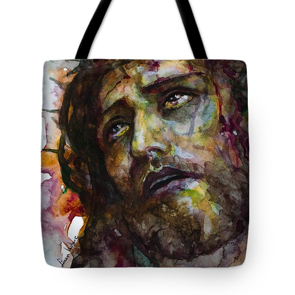 Tote Bag featuring the painting Jesus Christ by Laur Iduc