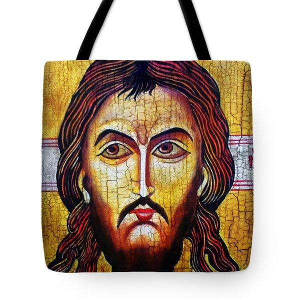 Jesus Christ Mandylion Tote Bag by Ryszard Sleczka