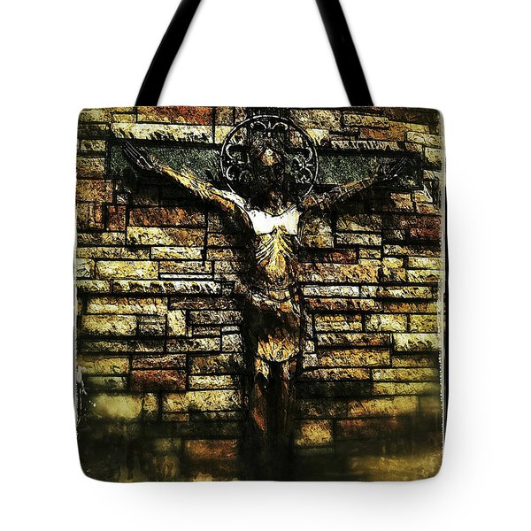 Jesus Coming Into View Tote Bag