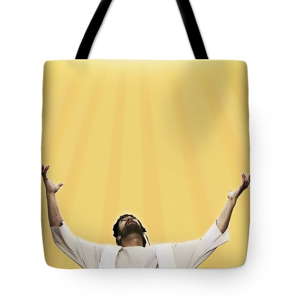 Jesus Cries Out To Heaven Tote Bag by Kelly Redinger