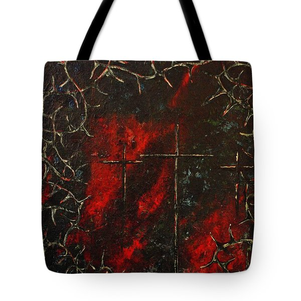 Jesus Did It All For Us Tote Bag by Wayne Cantrell