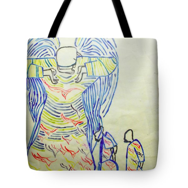 Jesus Guardian Angel Tote Bag by Gloria Ssali