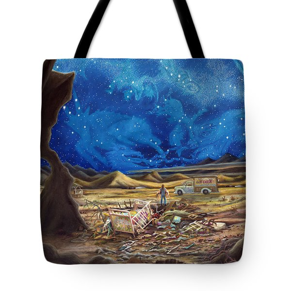 Jesus In Blue Jeans Tote Bag