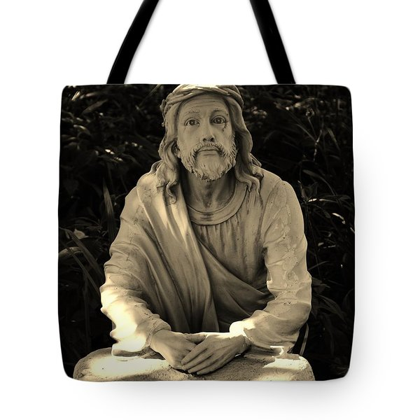 Jesus In The Garden Tote Bag by Bob Sample