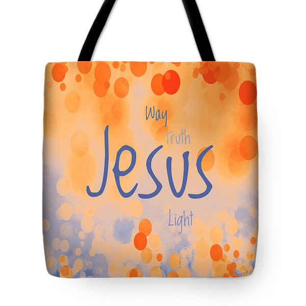 Jesus Light 2 Tote Bag by Angelina Vick