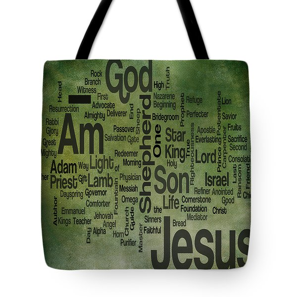 Jesus Name 1 Tote Bag by Angelina Vick