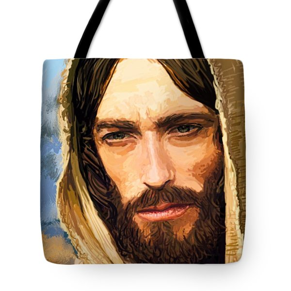 Jesus Of Nazareth Portrait Tote Bag by Dave Luebbert