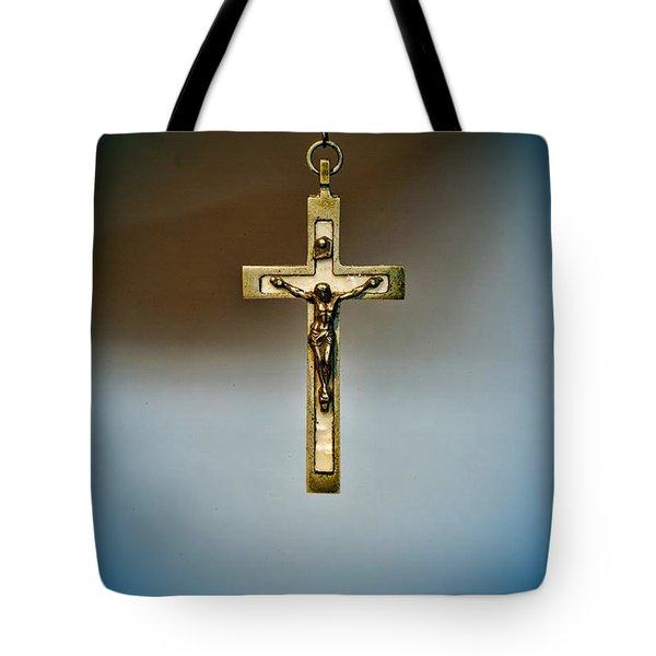 Jesus On The Cross 4 Tote Bag by Paul Ward