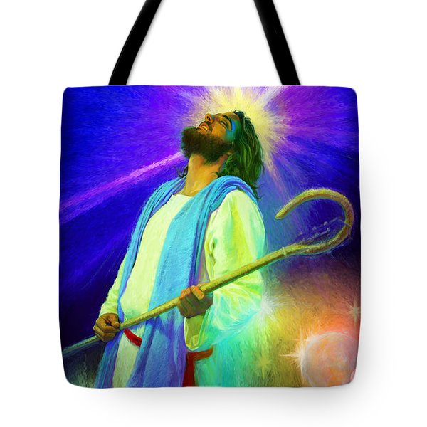 Jesus Rocks Tote Bag by Rob Corsetti