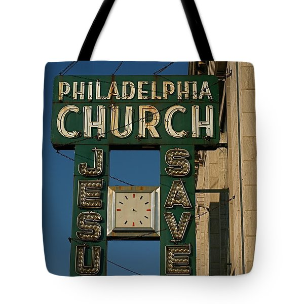 Jesus Saves Tote Bag