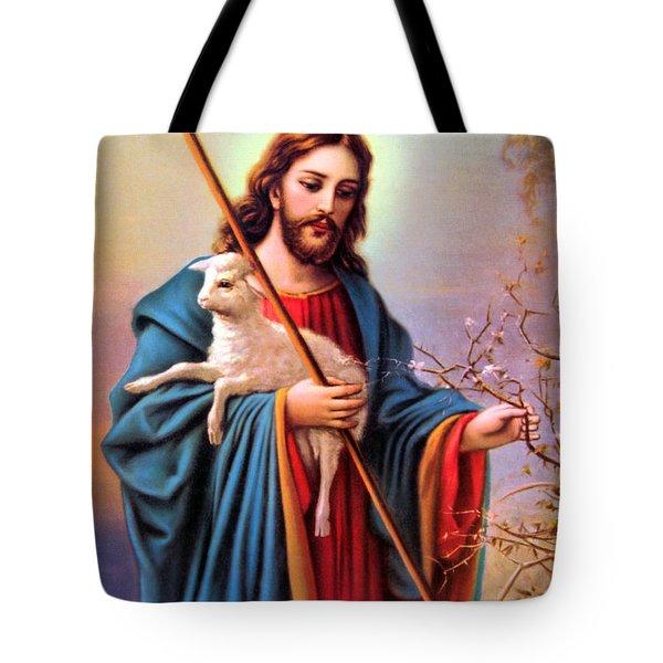 Jesus Shepherd Tote Bag by Munir Alawi