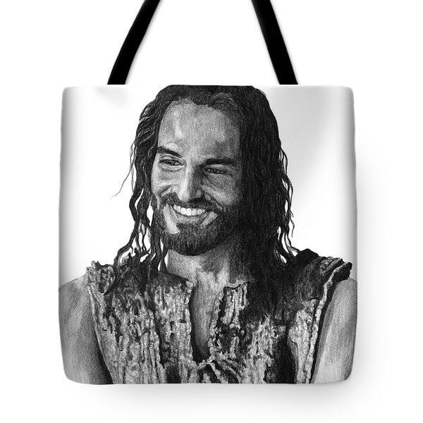 Jesus Smiling Tote Bag