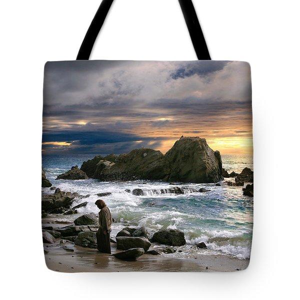 Jesus' Sunset Tote Bag
