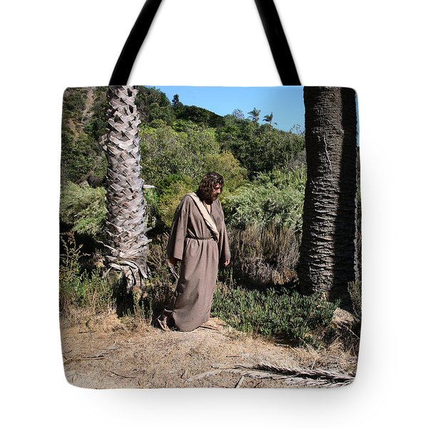 Jesus- Walk With Me Tote Bag