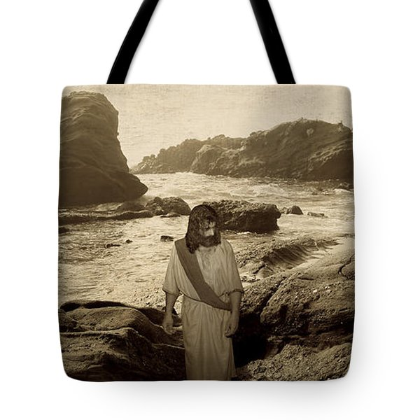 Jesus Walks Among Angels Tote Bag