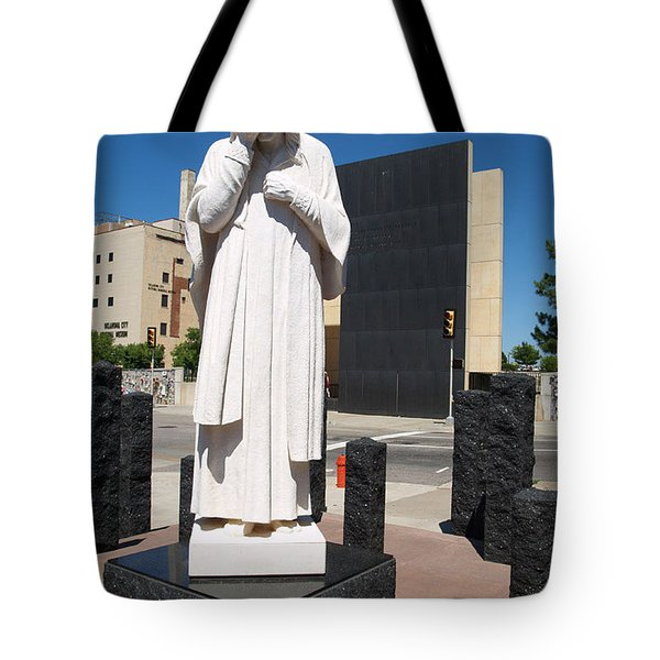 Tote Bag featuring the painting Jesus Wept by Robin Maria Pedrero
