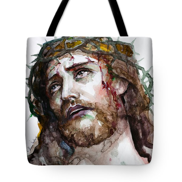 Tote Bag featuring the painting The Suffering God by Laur Iduc