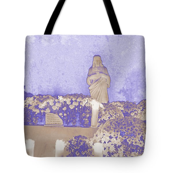 Tote Bag featuring the photograph All Saints Day In Lacombe Louisiana by Luana K Perez