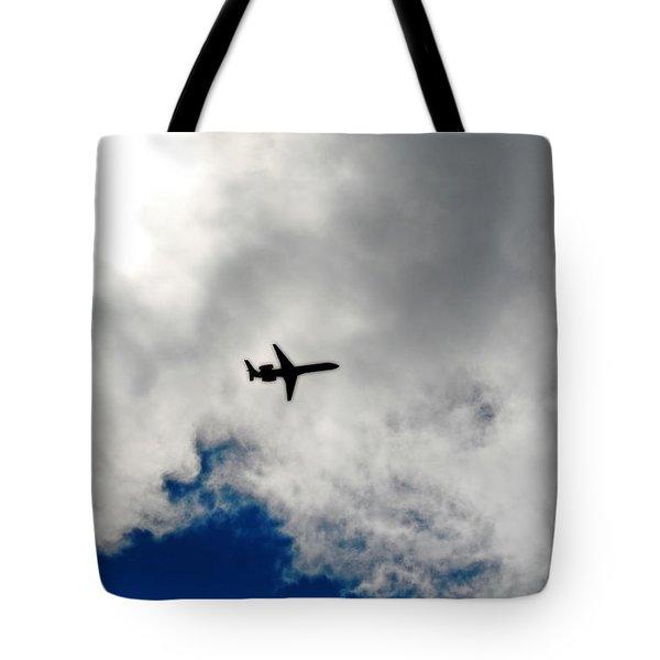 Jet Airplane Tote Bag