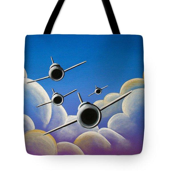 Jet Quartet Tote Bag