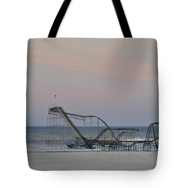 Jet Star At Dusk Tote Bag by Terry DeLuco
