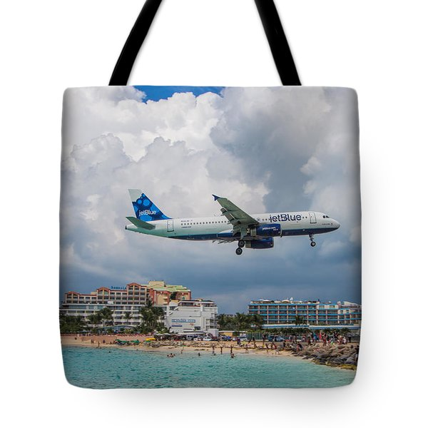 jetBlue in St. Maarten Tote Bag