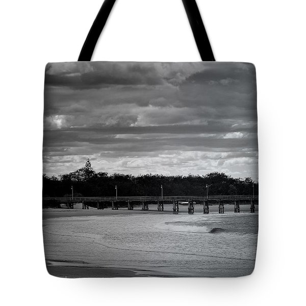 Tote Bag featuring the photograph Jetty Beach by Wallaroo Images