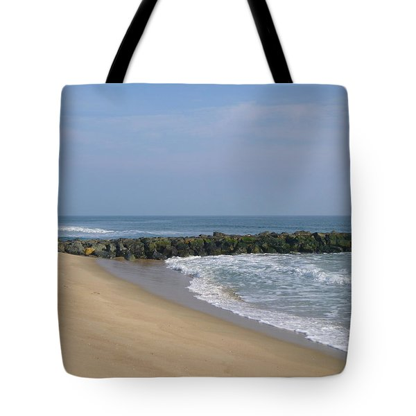 Jetty In Winter Tote Bag