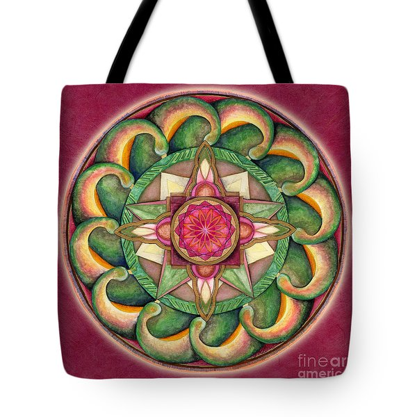 Jewel Of The Heart Mandala Tote Bag