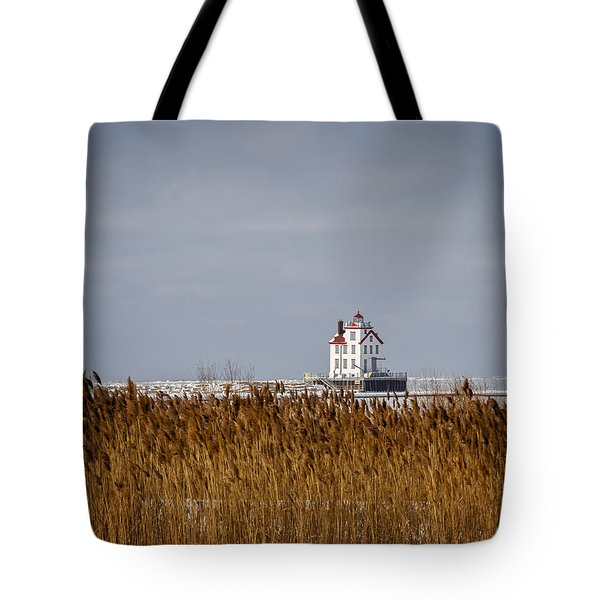 jewel of the Port Lorain Lighthouse Tote Bag