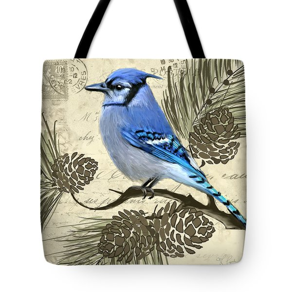 Jeweled Blue Tote Bag by Lourry Legarde