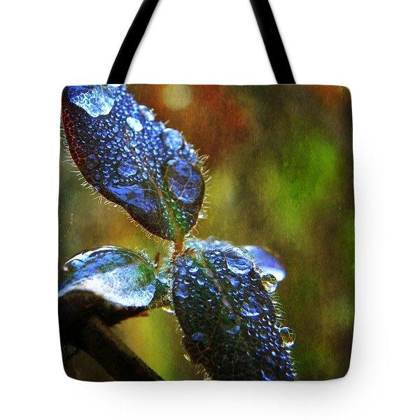 Jeweled Leaves Tote Bag