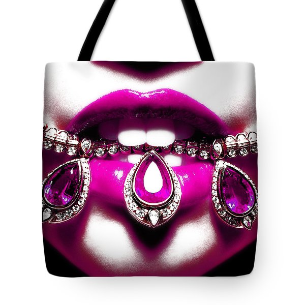 Jewelips Pink Tote Bag