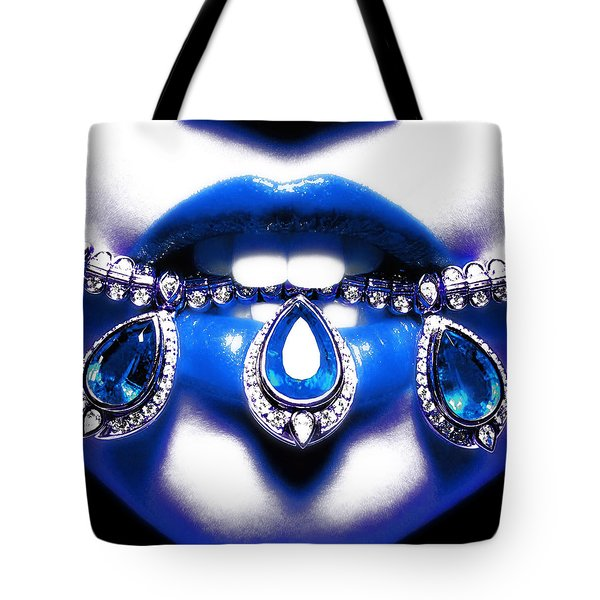 Jewelips Soft Blue Tote Bag