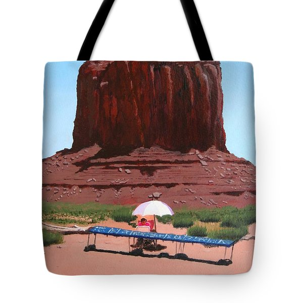 Jewelry Seller Tote Bag by Mike Robles