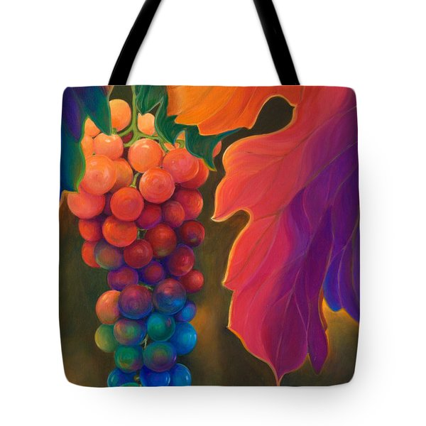 Tote Bag featuring the painting Jewels Of The Vine by Sandi Whetzel