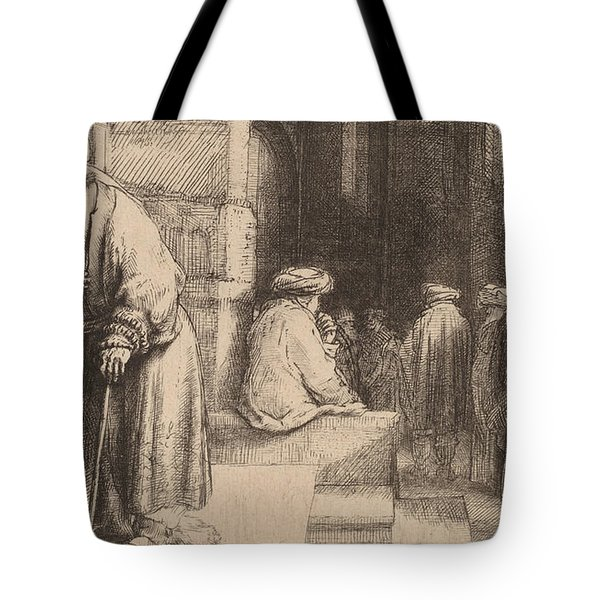 Jews In The Synagogue Tote Bag