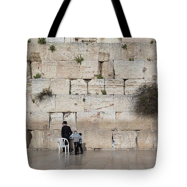 Jews Praying At Western Wall Tote Bag
