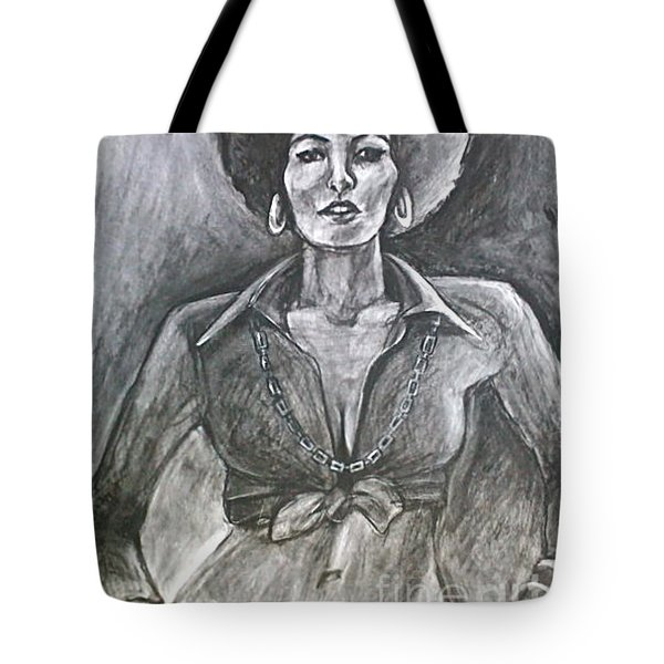 Tote Bag featuring the drawing Jezebel by Gabrielle Wilson-Sealy