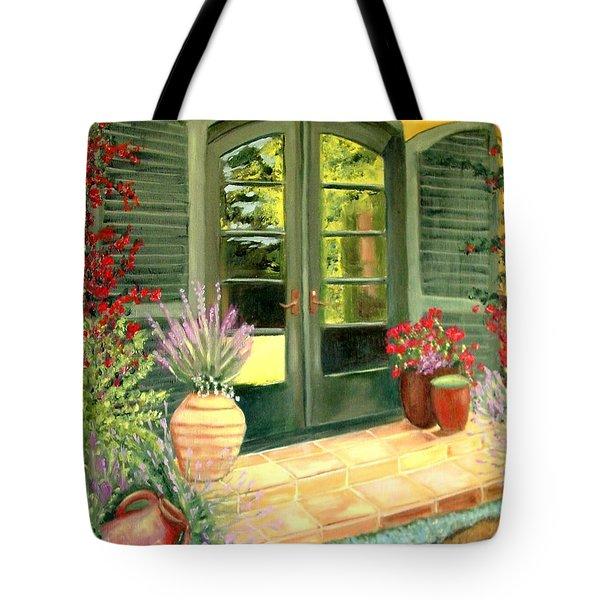 Jill's Patio Tote Bag