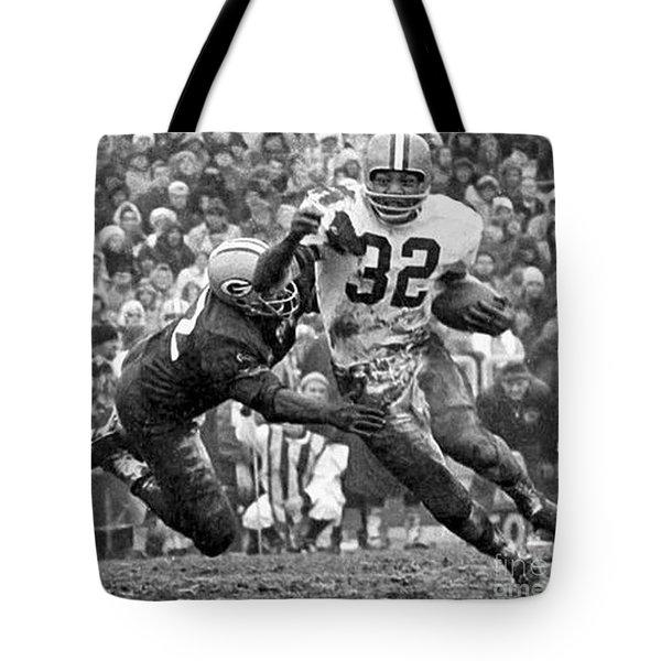Jim Brown #32 Tote Bag