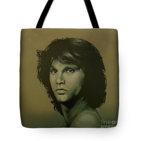 Jim Morrison Painting Tote Bag