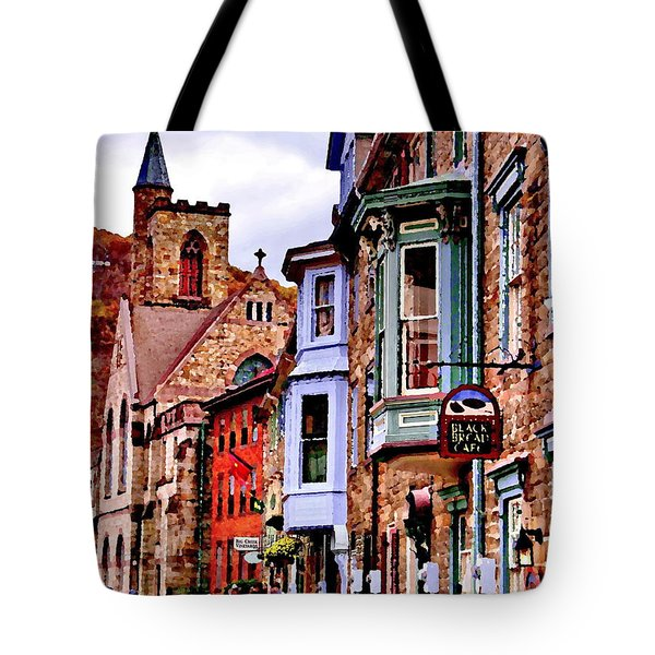Tote Bag featuring the photograph Jim Thorpe Pa Stone Row by Jacqueline M Lewis