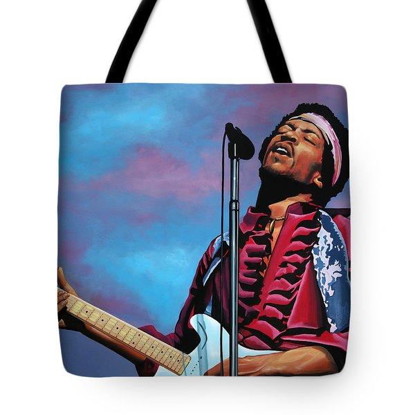 Jimi Hendrix 2 Tote Bag by Paul Meijering