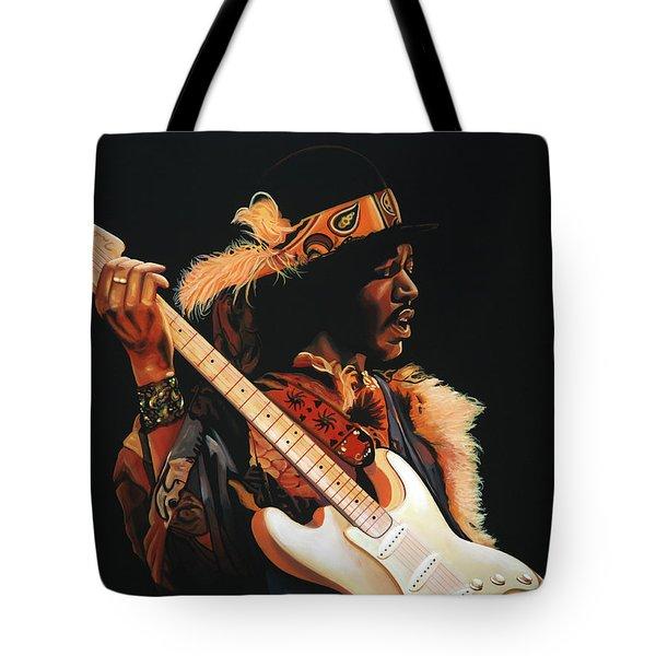 Jimi Hendrix 3 Tote Bag