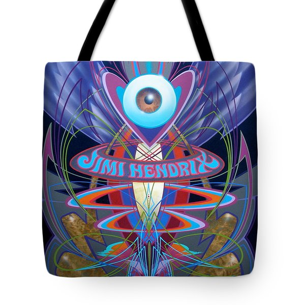 Jimi Hendrix Memorial Tote Bag
