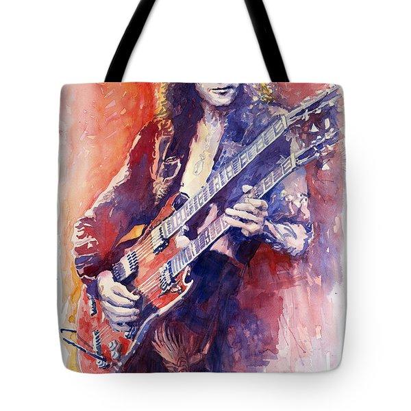 Jimmi Page Tote Bag by Yuriy Shevchuk