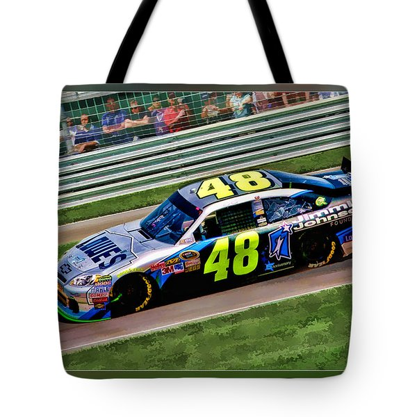 Jimmie Johnson Tote Bag