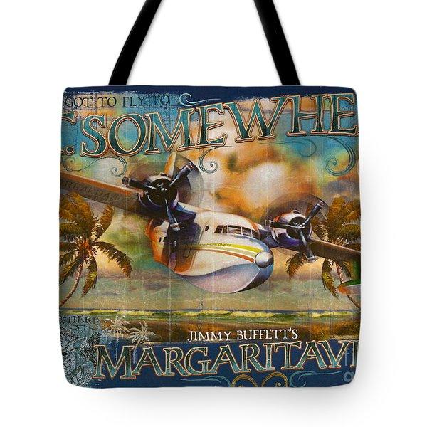 Jimmy Buffett's Hemisphere Dancer Tote Bag by Desiderata Gallery