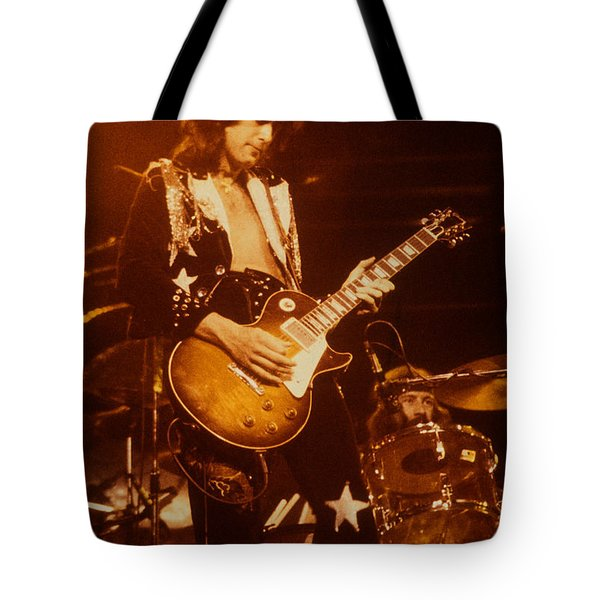 Jimmy Page 1975 Tote Bag
